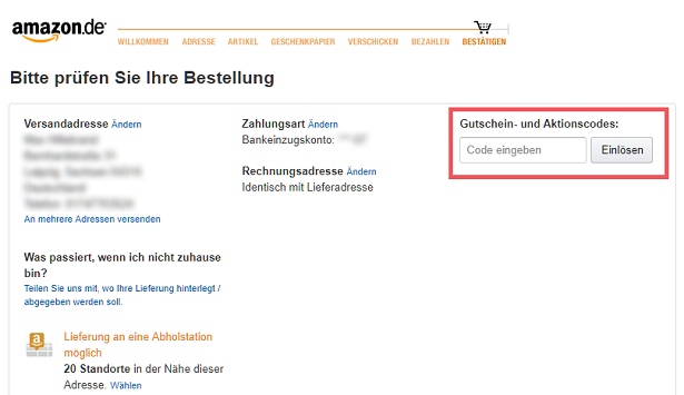 Amazon.Co.Uk Gutschein