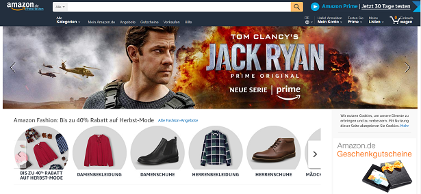 Amazon Gutschein Startseite
