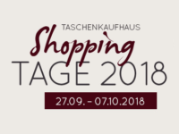 Taschenkaufhaus Shopping Tage – 15% auf nicht reduzierte Artikel!