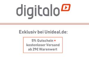Exklusiv bei Unideal: 5% Digitalo Gutschein zum Semesterstart!