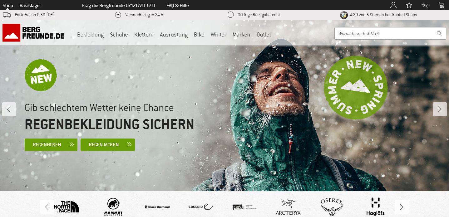 Bergfreunde Gutschein Startseite