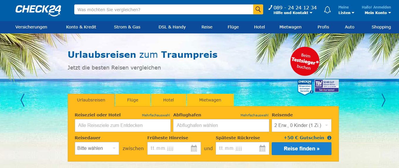 Check 24 Gutschein Online Shop