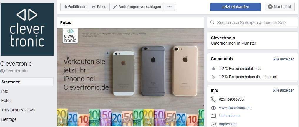 Clevertronic Gutschein Facebook