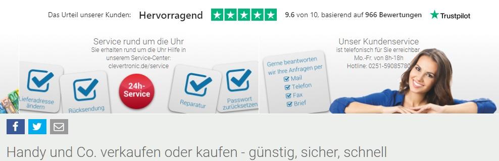 Clevertronic Gutschein Service