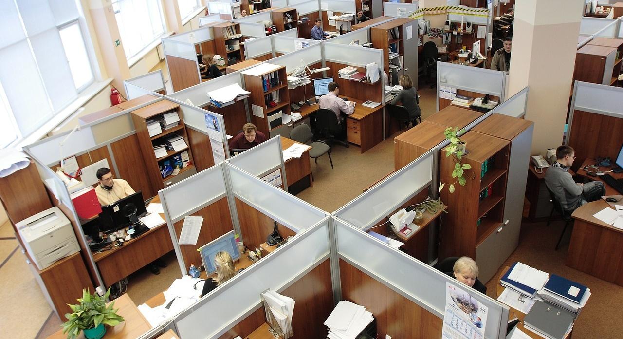Ergonomie am Arbeitsplatz Großraumbüro