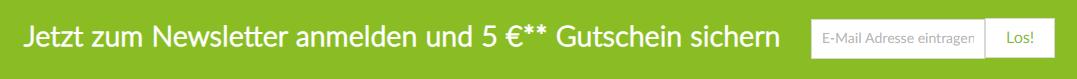 Eurapon Gutschein Newsletter