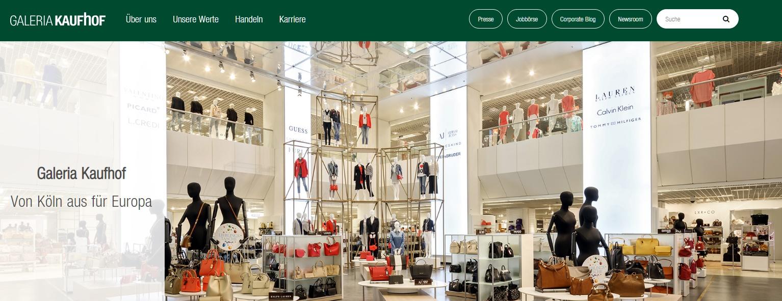Galeria Kaufhof Gutschein Unternehmen