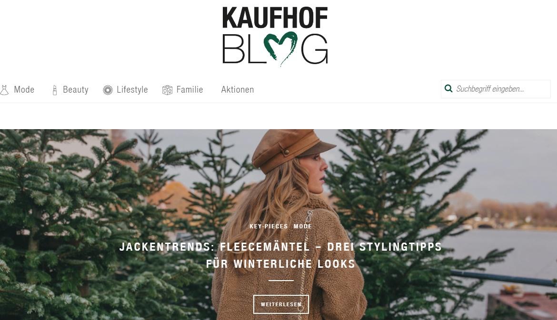 Galeria Kaufhof Gutschein blog