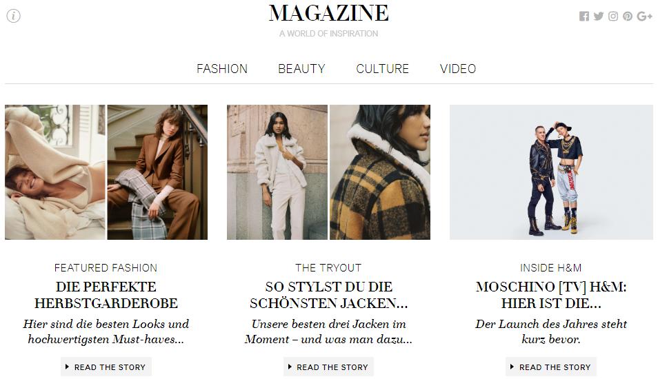 H&M Gutschein Magazin