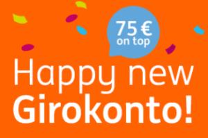 ING Girokonto Neujahrs-Aktion – 75€ Prämie für neues Girokonto!