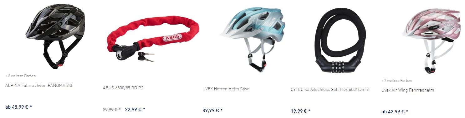Intersport Fahrradzubehör Sicherheit