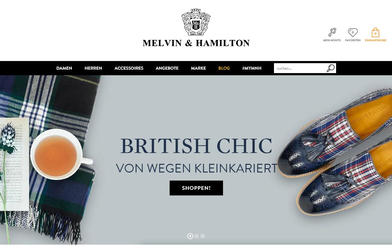 Melvin & Hamilton Gutschein Startseite