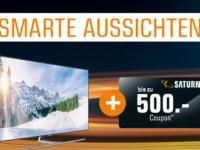 Samsung Coupon Aktion: bis zu 500€ Saturn Gutschein sichern!