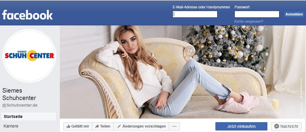 Schuhcenter Gutschein facebook