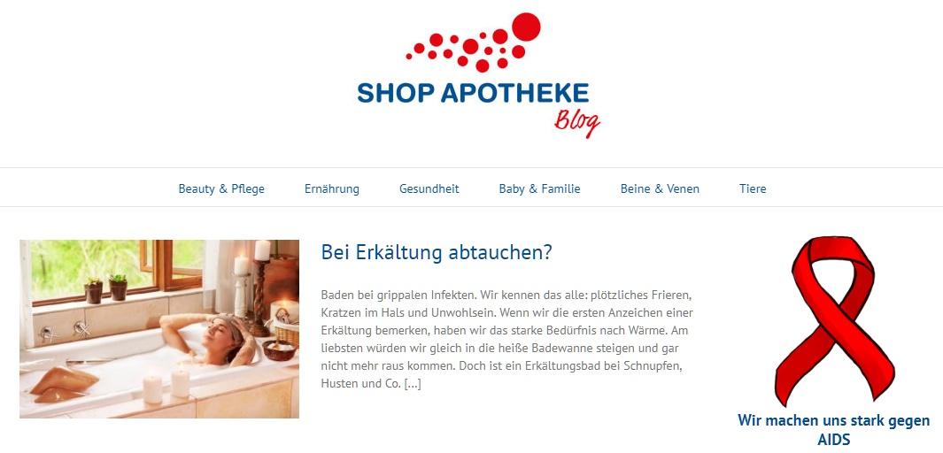 Shop-Apotheke Gutschein blog