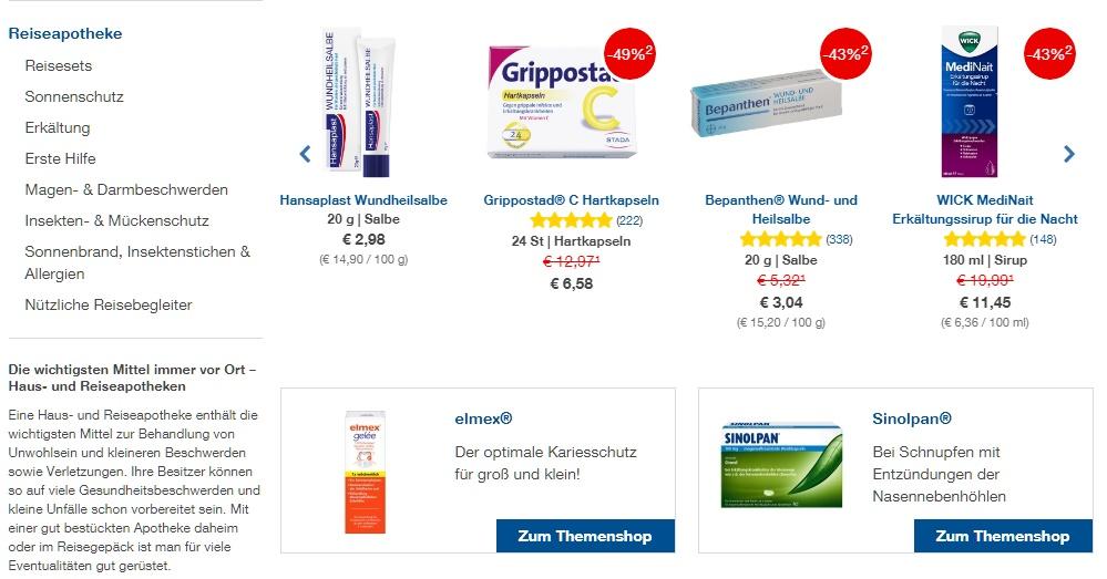 Shop-Apotheke Gutschein sortiment