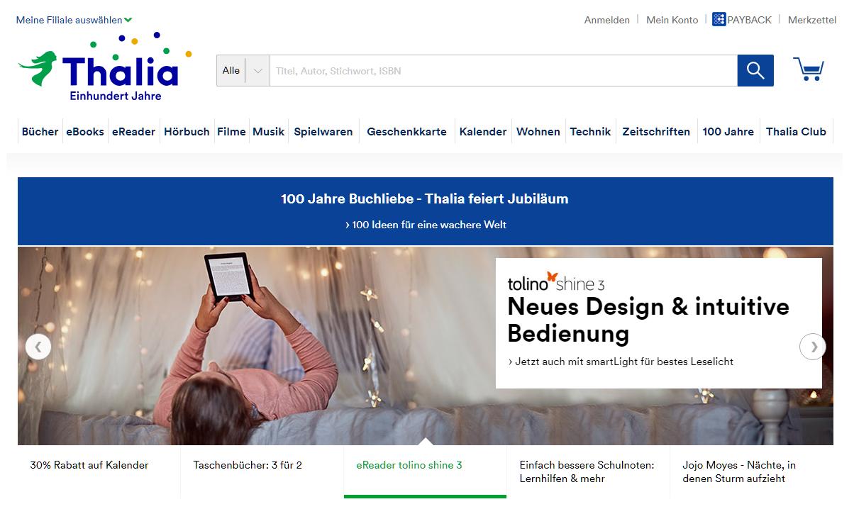 Thalia Gutschein Startseite 2