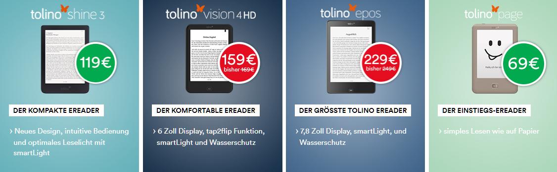 Thalia Gutschein tolino Reader 2