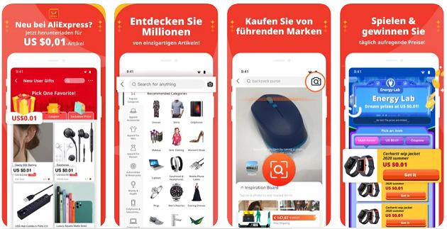 aliexpress gutscheine in app
