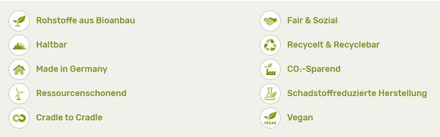Nachhaltigkeitskriterien