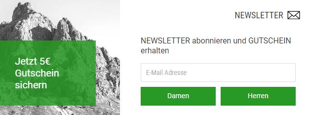 Bergezti Gutschein Newsletter