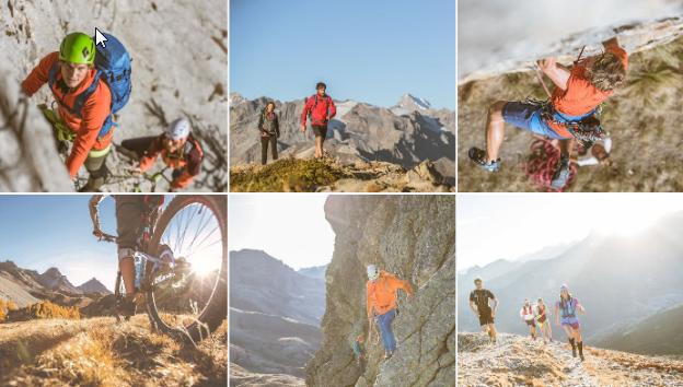 Bergzeit Sportarten