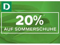 20 Prozent Rabatt auf Sommerschuhe bei Deichmann