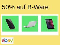Beim eBay B-Ware Center bis zu 50% Rabatt auf Elektronik einheimsen