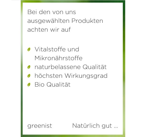 greenist gutschein zertifizierungen