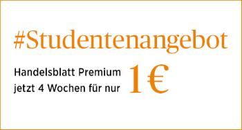 Handelsblatt für 1€ testen