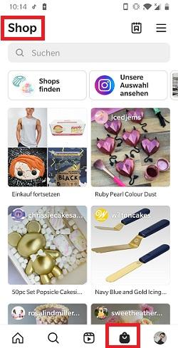 Shopping bei Instagram