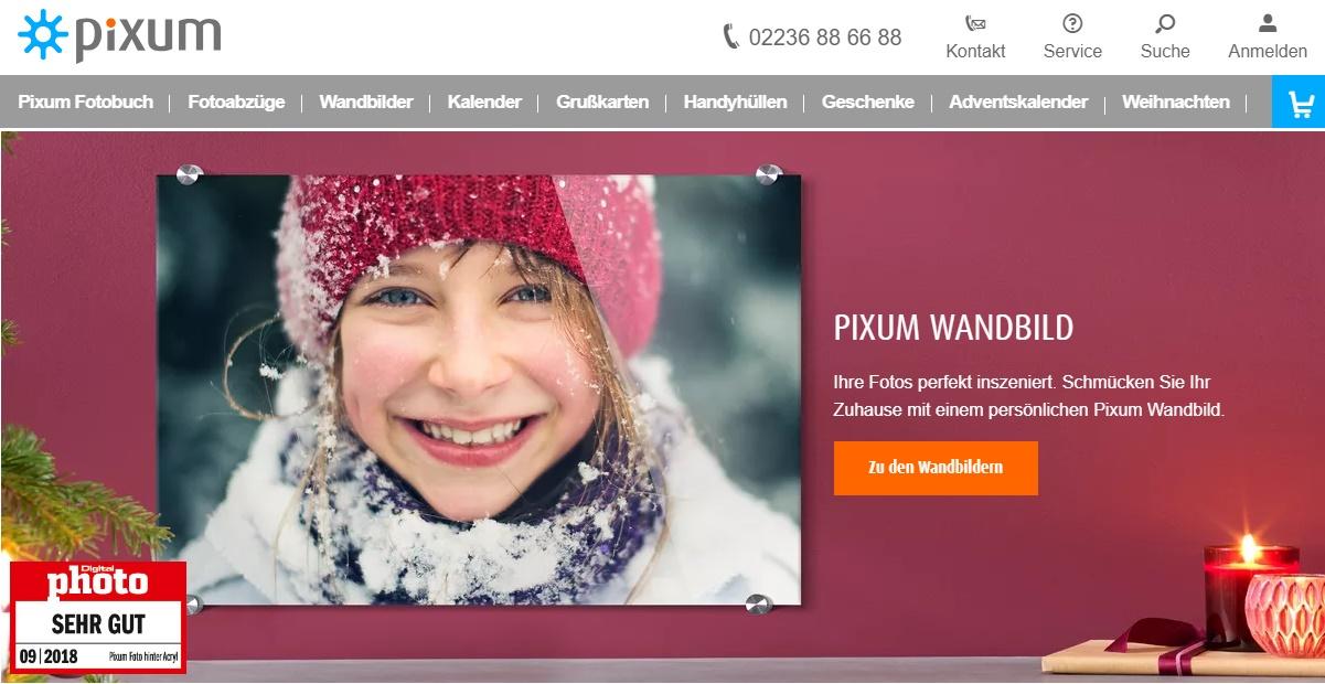 Pixum Gutschein Homepage