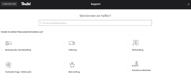 website teufel gutschein kundenservice