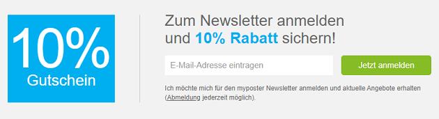 myposter Newsletter Rabatt