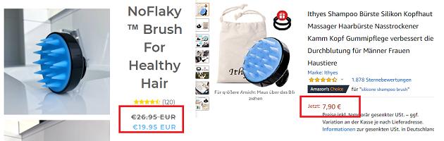 Silikon Haarbürste NoFlaky teuer