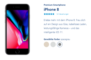 o2 Handytarif inkl. iPhone 8: monatlich 5€ sparen + Amazon-Gutschein!