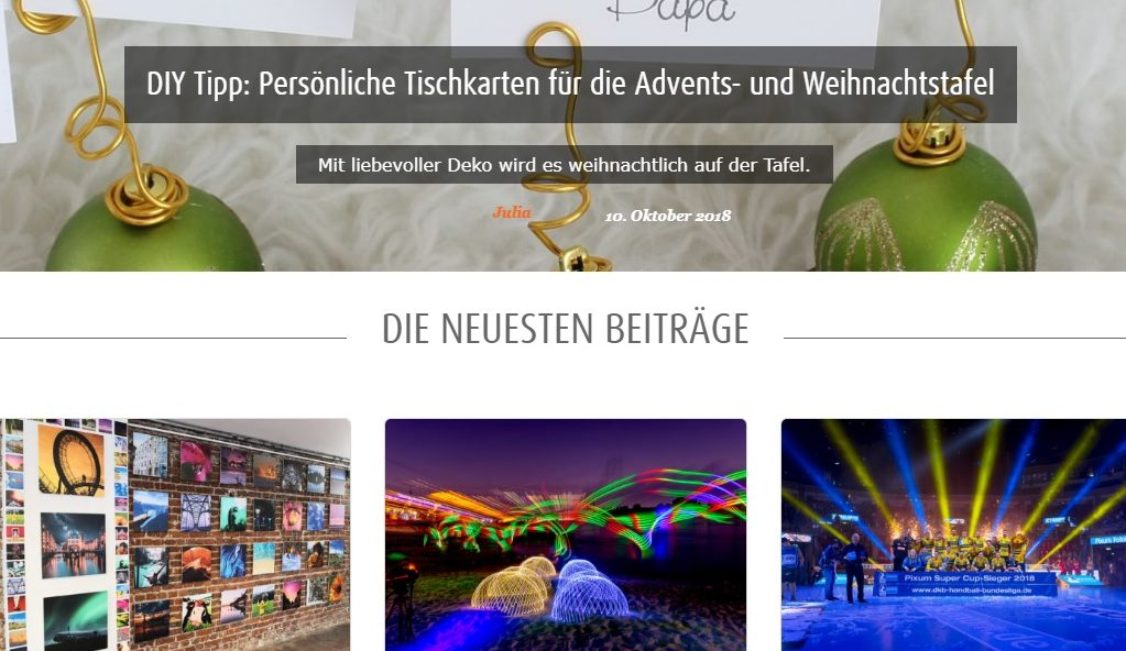 Pixum Gutschein Blog