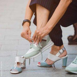 sneaker und highheels