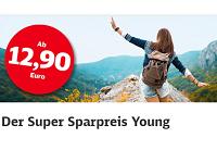 Super Sparpreis Young: Mit der Deutschen Bahn ab 12,90 Euro durch Deutschland reisen
