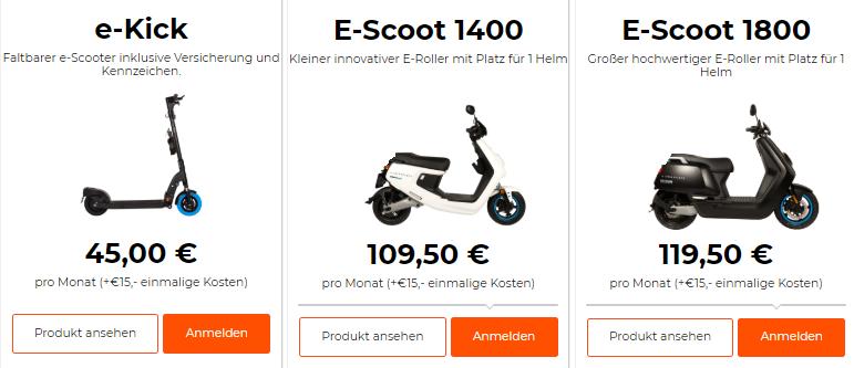 E-Roller E-Scooter Swapfiets