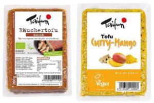taifun tofu geraeuchert und curry mango vegane Alternativen