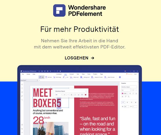 Wondershare Rabatt PDFelement